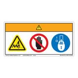 Warning/Cut Hazard Label (WF3-126-WH)