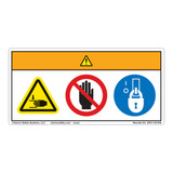 Warning/Crush Hazard Label (WF3-146-WH)