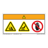 Warning/Pressurized Device Label (WF3-157-WH)