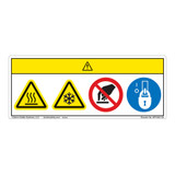 Caution/Hot or Cold Surface Label (WF4-001-CH)