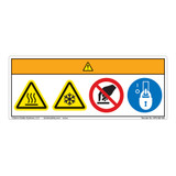 Warning/Hot or Cold Surface Label (WF4-002-WH)