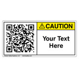 Custom QR Code Label - Caution
