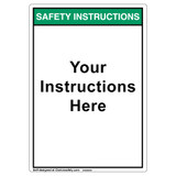 Custom Safety Instructions Label - Text Only