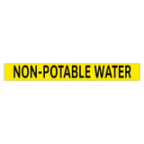 NON-POTABLE WATER Pipe Marker (PS-PE4Y)