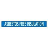 ASBESTOS FREE INSULATION Pipe Marker (PS-RJ1B)