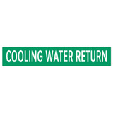 COOLING WATER RETURN Pipe Marker (PS-RA3G)