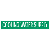 COOLING WATER SUPPLY Pipe Marker (PS-RA4G)
