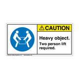 Caution/Heavy Object Label (H6147-RACH)