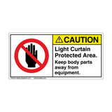 Caution/Light Curtain Protected (H6008-LC2CH)