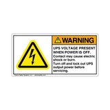Warning/UPS Voltage Present Label (H6010-MUWH)