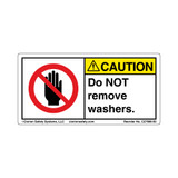 Caution/Do Not Remove Washers (C27800-03)