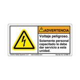 Warning/Hazardous Voltage (C27800-12)