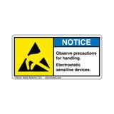 Notice/Observe Precautions (8550-11NHPL)