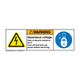 Warning/Hazardous Voltage (H6010/6143-533WH)