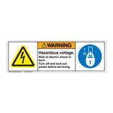 Warning/Hazardous Voltage (H6010/6143-533WH)