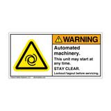 Warning/Automated Machinery (H6045-GCWHPJ)