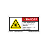 Danger/Laser Radiation when Open and Interlock (C26403-12)