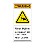 Warning/Pinch Point (H1098-405WVPJ)