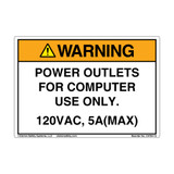 Warning/Power Outlets (C4764-15)