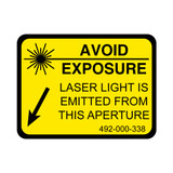 Avoid Exposure Label (492-000-338)