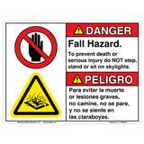 Danger/Do Not Step Sign (C17296-02)