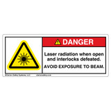 Danger/Laser Radiation When Open Label (H6003-140DH)