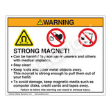 Warning/Strong Magnet Label (HMS-J73WHP-)
