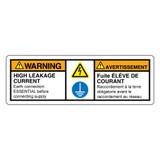 Warning/High Leakage Current Label (C34204-01)