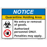 Notice/Quarantine Holding Area (F1354-)