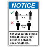 Notice/Keep 6 Feet Distance (F1357-)