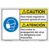 Caution/Face mask (F1364-)