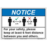 Notice/Keep 6 Feet Distance (F1365-)