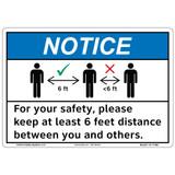Notice/Keep 6 Feet Distance (F1365-)
