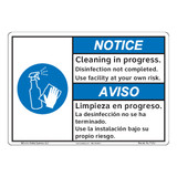 Notice/Cleaning in Progress (F1373-)