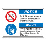 Notice/Do Not Share Lockers (F1371-)