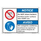 Notice/Do Not Share Lockers (F1371-)