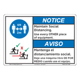 Notice/Maintain Social Distancing (F1380-)