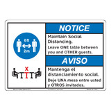 Notice/Maintain Social Distancing (F1381-)