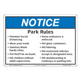 Notice/Park Rules (F1382-)