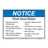 Notice/Pool Area Rules (F1383-)