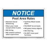 Notice/Pool Area Rules (F1383-)