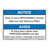 Notice/Dine In Area (F1384-)