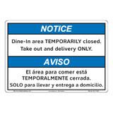 Notice/Dine In Area (F1384-)