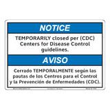 Notice/Temporarily Closed (F1385-)