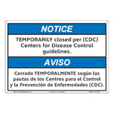Notice/Temporarily Closed (F1385-)