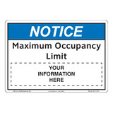 Notice/Maximum Occupancy Limit (F1375-)