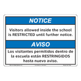 Notice/Visitors Allowed Inside (F1390-)