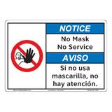 Notice/No Mask No Service (F1399-)
