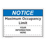 Notice/Maximum Occupancy Limit (FL1123-)