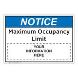 Notice/Maximum Occupancy Limit (FL1123-)